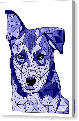 Rufus In Blue Canvas Print by David Smith