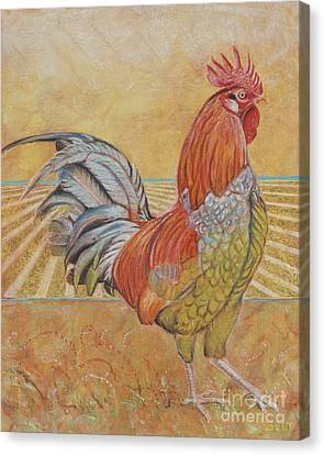 Rufus The Rooster Canvas Print by Christine Belt