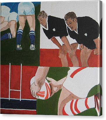 Rugby 2 Canvas Print by Pat Barker