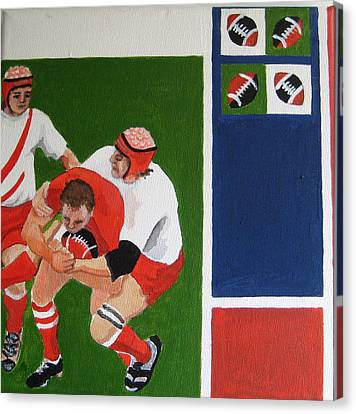 Rugby 3 Canvas Print by Pat Barker