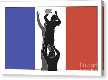 Rugby France Canvas Print by Aloysius Patrimonio