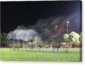 Rugby Training Canvas Print by Stacy Spencer-Barclay