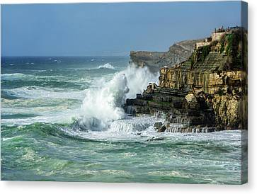 Canvas Print featuring the photograph Rugged Coastal Seascape by Marion McCristall