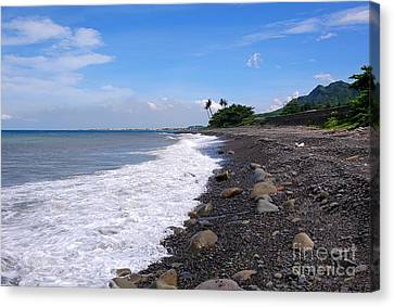 Canvas Print featuring the photograph Rugged Coastline In Taiwan by Yali Shi