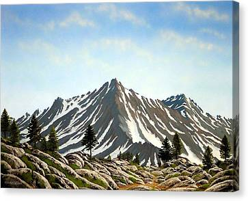 Rugged Peaks Canvas Print by Frank Wilson