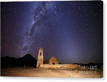 Luz Canvas Print - Ruined Church Milky Way And Zodiacal Light Bolivia by James Brunker