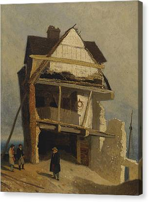 Ruined House  Canvas Print by John Sell Cotman