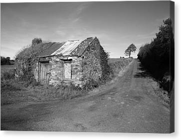 Ruined Irish Cottage Canvas Print by John Quinn