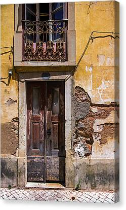 Old Wall Canvas Print - Ruined Yellow House by Carlos Caetano