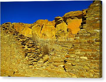 Ruins And Rock Canvas Print
