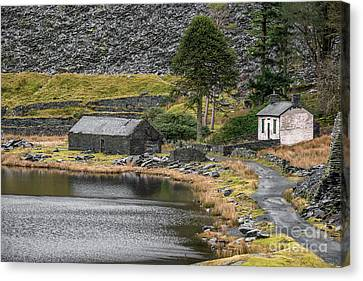 Canvas Print featuring the photograph Ruins At Cwmorthin by Adrian Evans