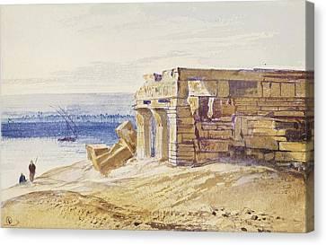 Ruins At Kom Canvas Print by MotionAge Designs