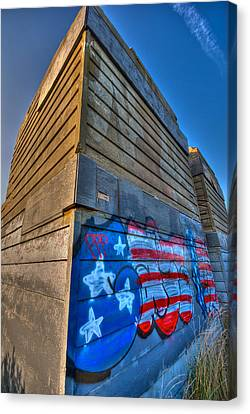 Ruins Graffiti Canvas Print by Mike Horvath