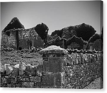 Ruins In The Burren County Clare Ireland Canvas Print by Teresa Mucha