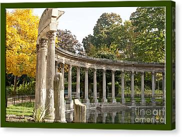 Canvas Print featuring the photograph Ruins In The Park by Victoria Harrington