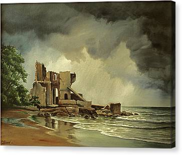Ruins Near Kenosha Canvas Print by Paul Krapf