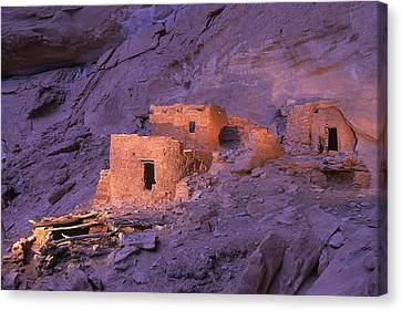 Ruins Of Ancient Pueblo Indian Or Canvas Print by Ira Block
