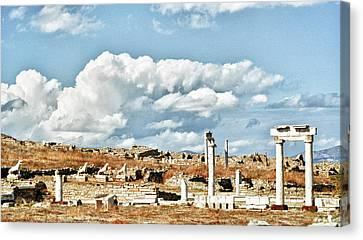 Delos Canvas Print - Ruins Of Delos by Linda Pulvermacher