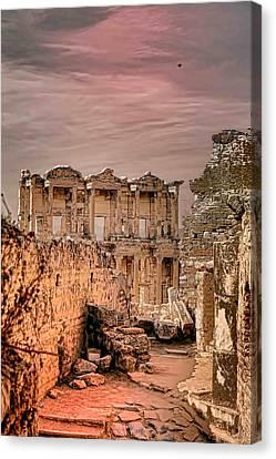 Ruins Of Ephesus Canvas Print by Tom Prendergast