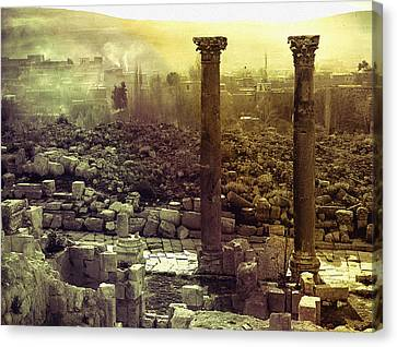 Canvas Print featuring the photograph Ruins Of Jurash by Robert G Kernodle