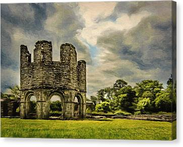 Ruins Of Mellifont Abbey Canvas Print by Jeff Kolker