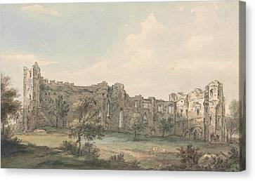 Ruins Of Newark Castle Canvas Print by Paul Sandby