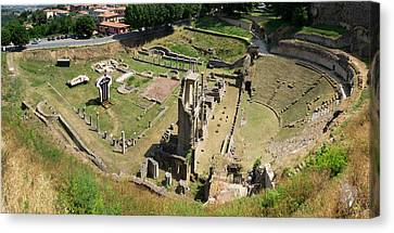 Ruins Of Roman Theater, Volterra Canvas Print by Panoramic Images