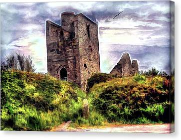 Canvas Print featuring the digital art Ruins Of The Old Tin Mine by Pennie  McCracken