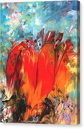 Rulers And Sinners Canvas Print by Miki De Goodaboom