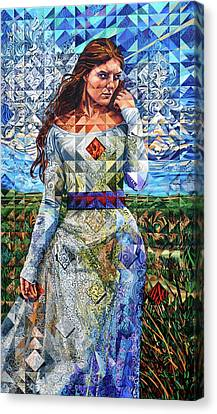 Canvas Print featuring the painting Rules Of Refraction by Greg Skrtic