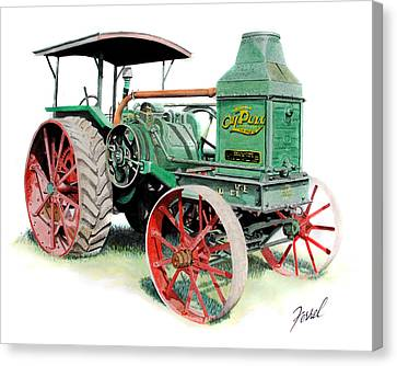 Rumely Oil Pull 2040 Canvas Print
