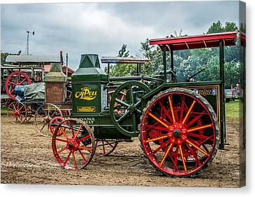 Rumley Oil Pull Tractor Canvas Print by Paul Freidlund