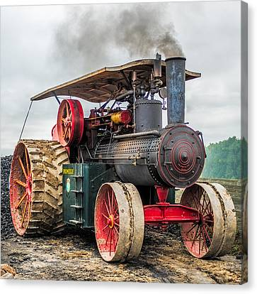 Rumley Steam Tractor Canvas Print