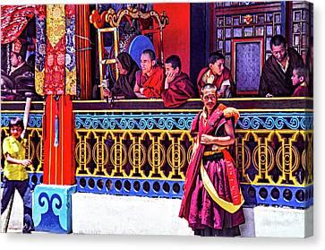 Rumtek Monastery Festival Canvas Print