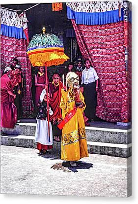 Rumtek Monastery Procession Canvas Print