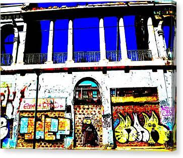 Run Down Valparaiso Buildings Canvas Print by Funkpix Photo Hunter