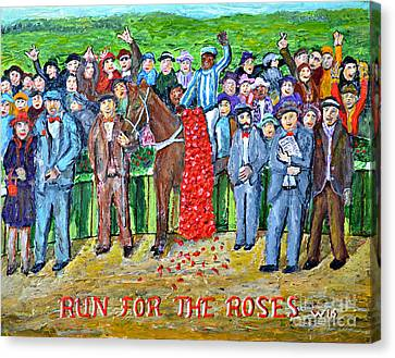 Run For The Roses Canvas Print by Richard Wandell