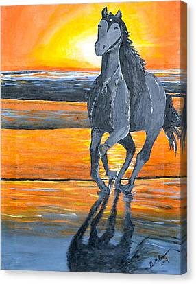 Run Free Canvas Print