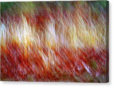Music Inspired Art Canvas Print - Run Like Hell by Linda Sannuti