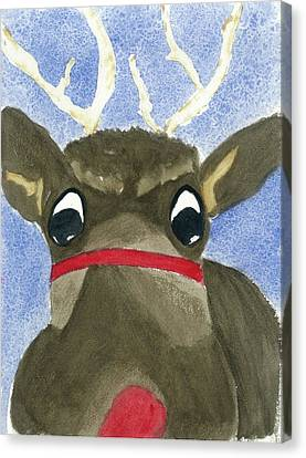 Run Run Rudolph Canvas Print