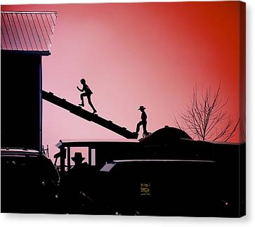 Run To The Hayloft Canvas Print by Patrick Hart
