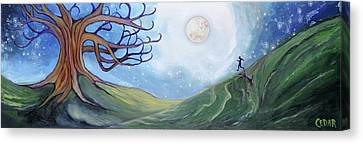 Silver Moonlight Canvas Print - Runaway by Cedar Lee