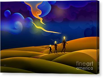 Runaway Ideas Canvas Print by Bedros Awak