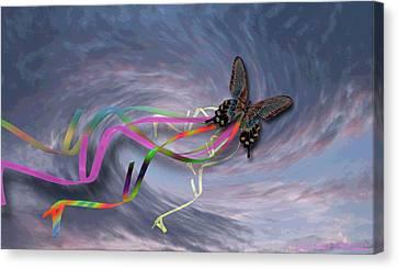 Runaway Kite Canvas Print