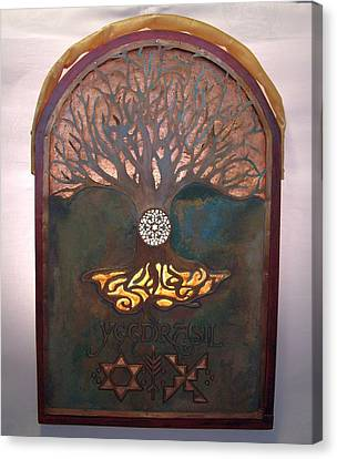 Runes For Restoration Illuminated Canvas Print
