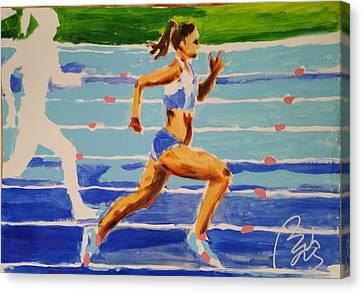 Inner World Canvas Print - Runner I by Bachmors Artist