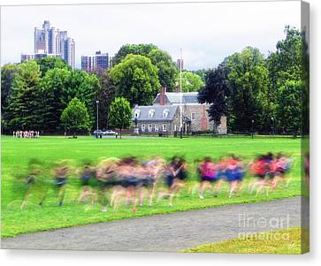 Runners Motion Blur Canvas Print by Nishanth Gopinathan