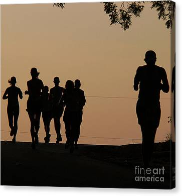Jogging Canvas Print - Running by Angela Wright