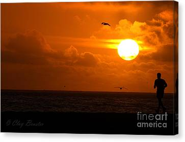 Running By Dusk Canvas Print by Clayton Bruster