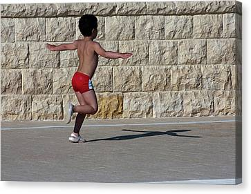 Running Child Canvas Print by Bruno Spagnolo